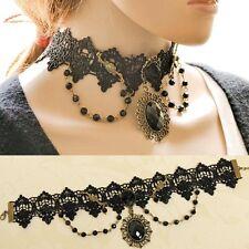 Spitze Halsband Gothic Dirndl Victorianisch Burlesque Barock  Armband-Halskette