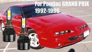 LED For GRAND PRIX 1992-1996 Headlight Kit 9006 HB4 6000K CREE Bulbs Low Beam