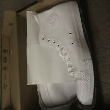 c381ea3a1db1 New ListingConverse Chuck Taylor All Star White Leather Hi-Top Mens Size 16