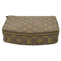 Louis Vuitton Poche Monte Carlo M47350 Monogram Jewelry Pouch Case Bag France