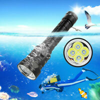 15000LM 4x XML T6 LED Diving Scuba Flashlight Torch 3-Modes Underwater 100m Lamp