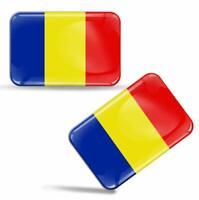 Autocollants 3D Drapeau Roumanie National Roumain Romania Flag Romanian Stickers