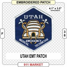 Utah EMT Patch UT state Emergency Medical Technician FD FF EMS Paramedic - F 38