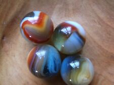 A LOT OF 4 COLLECTABLE VITRO AGATE MARBLES