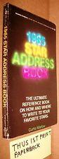 PB Rare Scarce 1985 Star Address Book Curtis Marlow Signet XE2121 1st Sharon Pub