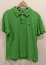 Nautica Size Small Bright Green Polo Shirt