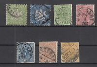 X2343/ GERMANY – WURTEMBERG – 1863 / 1873 USED CLASSIC LOT – CV 250 $