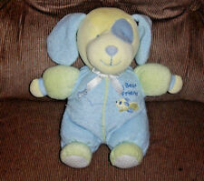 Carter's Starters MY BEST FRIEND Rattle Puppy Blue Yellow Soft 9in Plush Clean