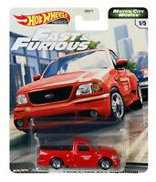 Hot Wheels 2020 Fast & Furious 1:64 Diecast 1/5 Ford F-150 SVT Lightning