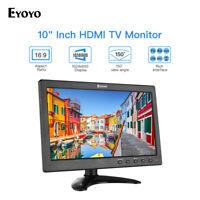 "Eyoyo 10"" HDMI TV Monitor VGA/AV/USB Input + Stand 16:9 for Raspberry Pi PC CCTV"