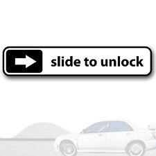 "Aufkleber ""Slide to unlock"", Tuning Sticker, JDM, Japan, Auto, Nissan, kfz 135"
