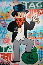 "Alec monopoly,Handcraft Oil Painting on Canvas ,24x36inch""TAG HEUER"" no frame"