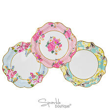 LUXURY FLORAL PAPER PLATES (Medium/22cm)-Vintage Tea Party-FULL RANGE IN SHOP!