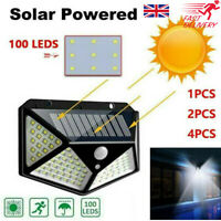 100 LED Solar Power PIR Motion Sensor Outdoor Wall Lights Garden Security Lamps~
