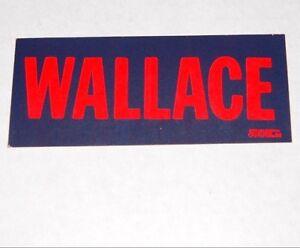 1968 GEORGE WALLACE BUMPER STICKER campaign pinback button political president