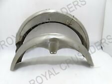 BRAND NEW MATCHLESS FRONT AND REAR MUDGUARD RAW STEEL (Reproduction) @pummy