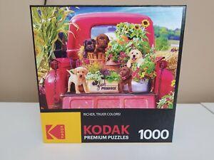 KODAK 1000 PIECE PREMIUM JIGSAW PUZZLE STOWAWAYS PUPPIES/DOGS