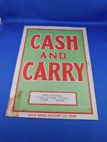 MUNN'S HARDWARE ALYMER ONTARIO CASH AND CARRY ADVERTISE CATALOG FLYER 1929 TOOL