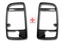 VW Crafter Door Wing Mirror Black Casing Cover Inner Bezel Frame Left Right Pair
