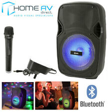 QTX PAL 8 Unità Portatile PA BLUETOOTH USB SD LED FX + MICROFONO WIRELESS KARAOKE