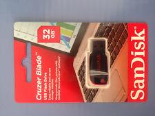 PENDRIVE 32GB Sandisk Cruzer Blade MEMORIA USB PEN DRIVE 32 GB
