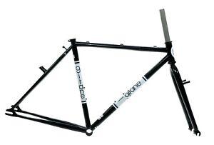Gitane City Link/Bianchi San Jose Frameset 52cm Black/Wht Single Speed Frame NEW
