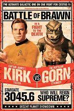 STAR TREK - KIRK VS GORN POSTER - 24x36 ORIGINAL SERIES SHATNER 241380