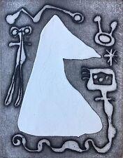 Joan Miro - Etching - Plate 5 (Negative) - L'Antitete, Le Desesperanto, 1949