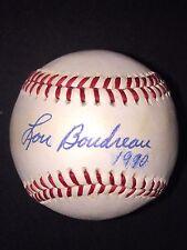 Lou Boudreau AUTOGRAPHED SIGNED BASEBALL OAL PSA/DNA HOF Inscribed Indians