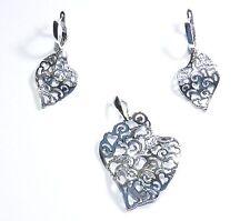 Echtes 925 Silber Schmuck Set aus Silber 925  - Rhodiniert - Neuheit Herbst 2015