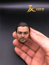 "JXtoys 1/6 Leonardo DiCaprio Oscar Star Head Sculpt Carved Model F 12"" Male Body"