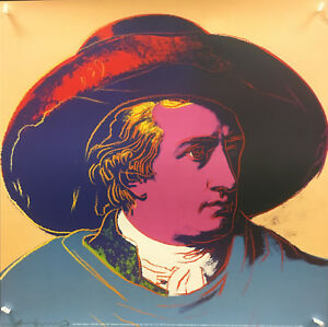 """Andy Warhol -  Goethe """"Red and black"""" (1982) - 1993 - Poster"""