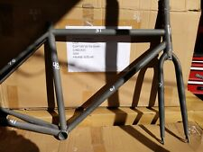 Chromoly Fixed Gear Frameset Track Road Bike Frame and Fork USA crmo- herald ?!!