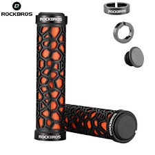 RockBros Double Lock-on Bicycle Handlebar Grips MTB BMX Fixed Gear Bike Orange