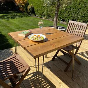 Outdoor Garden Dining Table / Bench [Optional Hairpin Legs] Industrial Patio