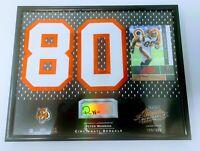 Peter Warrick 2002 Absolute Mem Auto 8x10 Jersey Number Patch /350 Bengals FSU