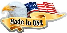 "1- 3"" x 6"" American Flag Bald Eagle Made in USA Decal Sticker Patriotic 984"