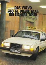 VOLVO 740 GL TAXI Limousine Kombi Nutzfahrzeug Prospekt Brochure 1986 76