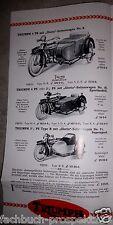 TRIUMPH KATALOG 1924 MOTORRAD  AUTO ENGLAND 10/20 HP OLDTIMER SAMMLER