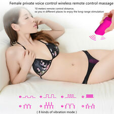 Female Vibrator Remote Control+Voice Control Invisible Wear Waterproof in Panty