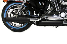 Terminals Exhaust Mufflers Side Slash Black Sportster Nightster Iron Forty Eight