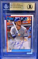 2015 Topps Holiday Employee Kris Bryant AUTO RC #19/25 (No Name on Front) NNOF