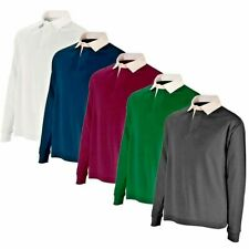 Mens Gents Rugby Shirt Long Sleeve Classic Rugby Polo Shirt 100% Cotton 280g