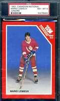 Mario Lemieux PSA NM MT 8 1983 Canadian Juniors True Rookie