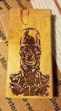 "Terminator endoskeleton ""no fate"" custom wood wooden dugout"