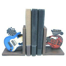 VINTAGE RETRO GUITAR BOOKENDS HEAVY BOOKS NEW & BOXED