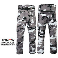 Men Motorbike Motorcycle Waterproof Cordura Pant Textile With CE Armoured Camo