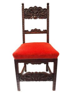Schöner, geschnitzter Stuhl; um 1880