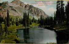 1910 Beautiful Lake Indian Henry's Hunting Ground Paradise Park WA Postcard B2
