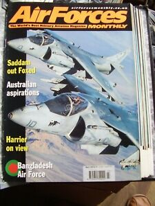 JOB LOT  X 9 AIR FORCES MONTHLY AIRCRAFT MAGAZINES 1999  IN OFFICIAL BINDER
